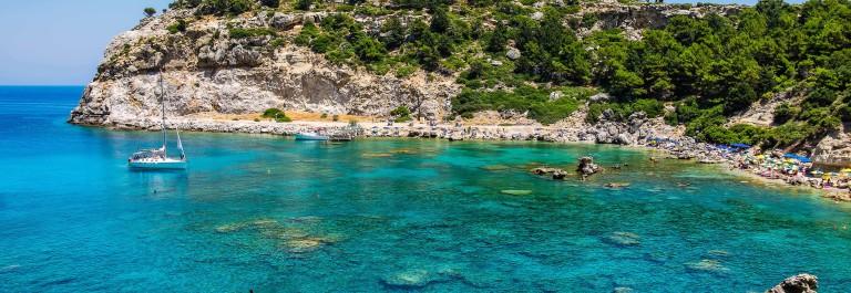 Anthony Quinn Bay. Rhodes, Greece