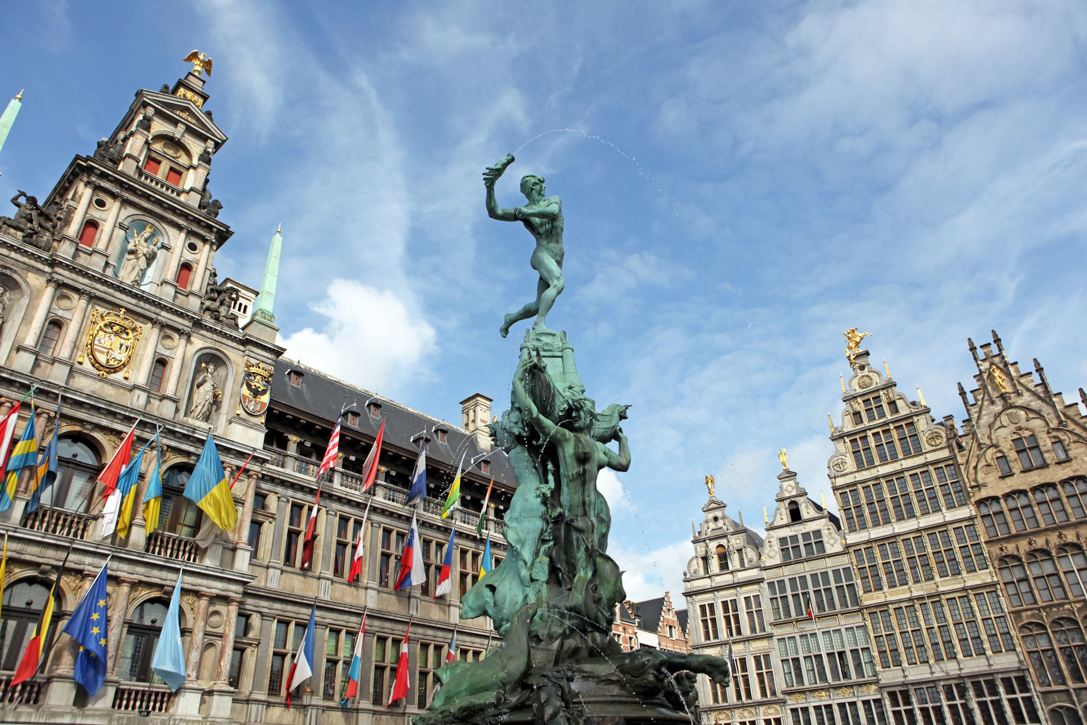 Platz in Antwerpen in Belgien