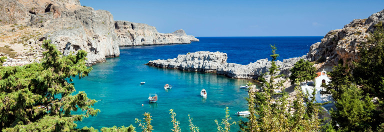 Bay of St. Paul, Lindos – Rhodes island – Greece