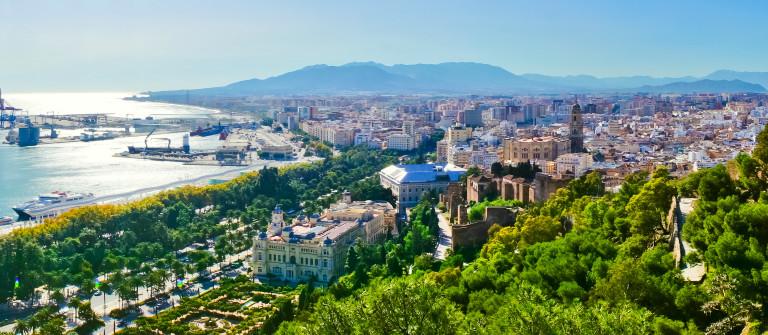 Beautiful panorama view of Malaga city, Spain_shutterstock_153487934
