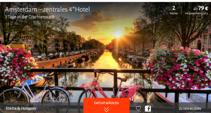 hotel in amsterdam 3 tage im tollen 4 sterne hotel f r 79. Black Bedroom Furniture Sets. Home Design Ideas