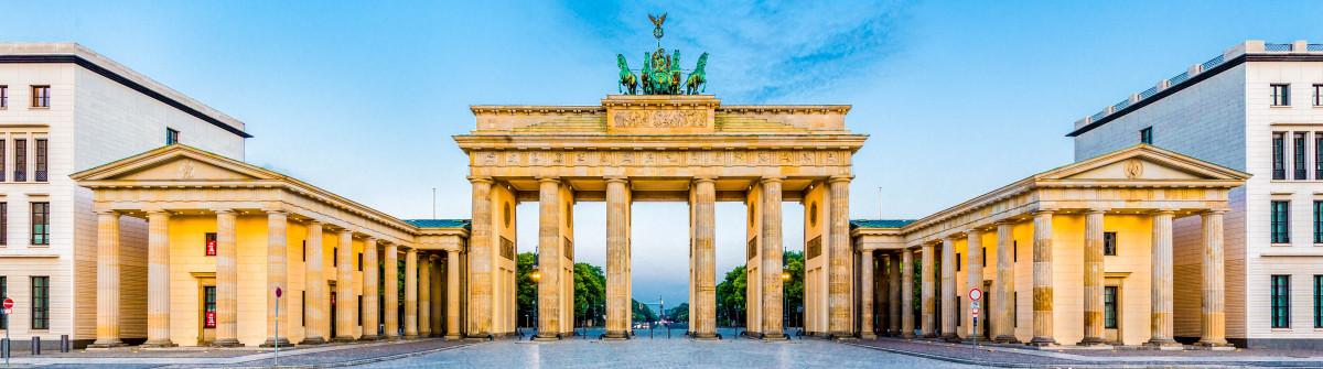Brandenburg Gate panorama, Berlin, Germany