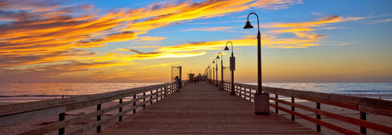 Cloudy Sunset at the Imperial Beach Pier, San Diego, CA