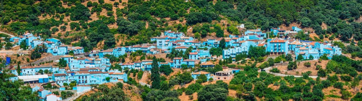 Schlumpfdorf Juzcar Andalusien