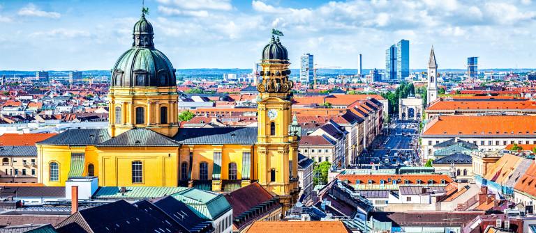 Aerial view of Munich
