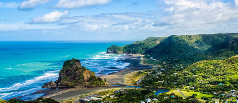 Piha beach which is located at the West Coast in Auckland,New Zealand shutterstock_360145958-2
