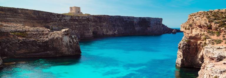 The Blue Lagoon on Comino Island, Malta Gozo._shutterstock_301444703