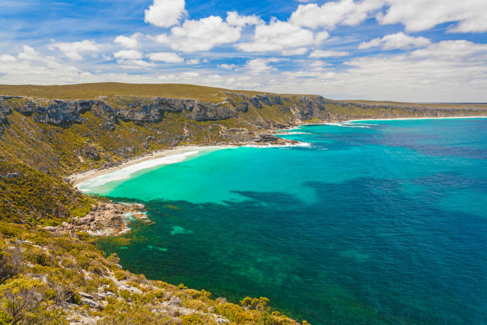 Beautiful bay on Kangaroo Island, South Australia