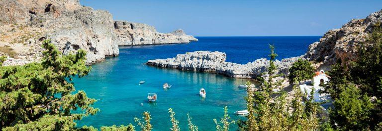 Bay of St. Paul, Lindos – Rhodes island – Greece