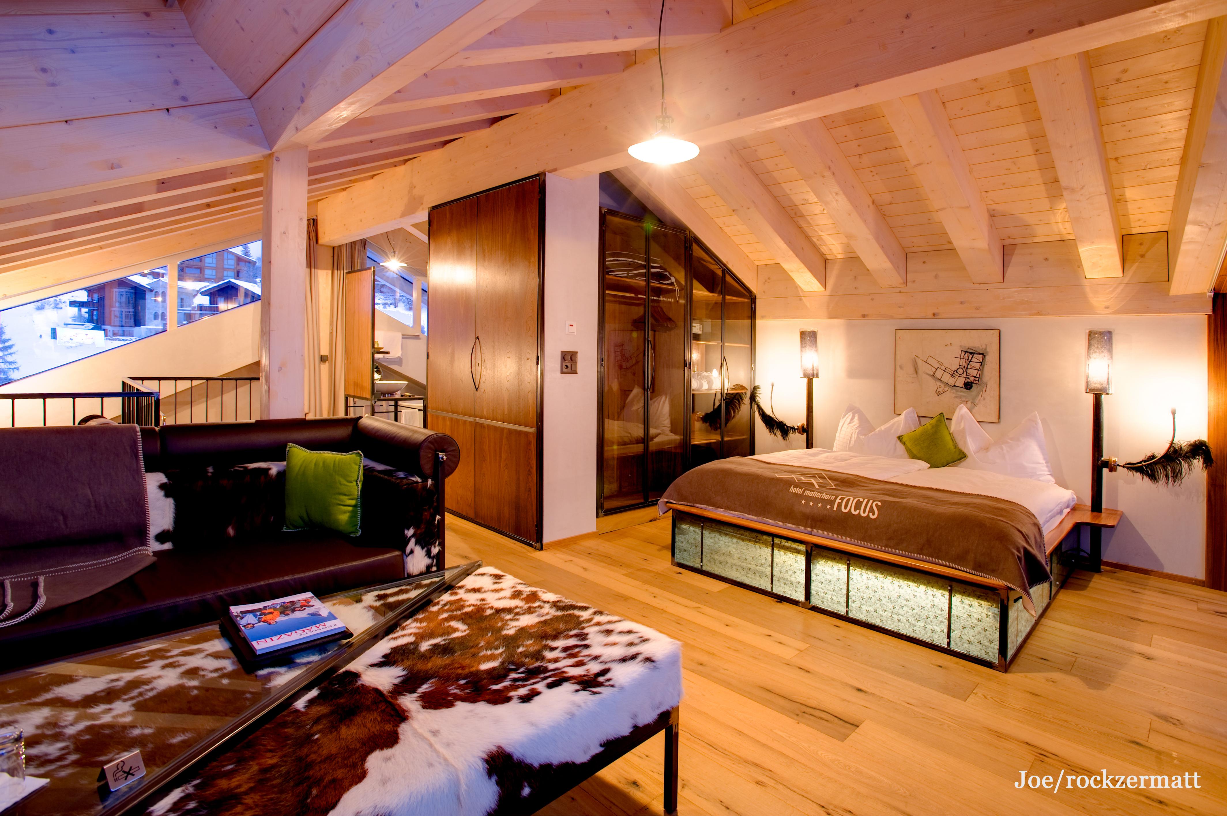 Skiurlaub zermatt 8 tage im matterhorn focus mit for Design hotel zermatt