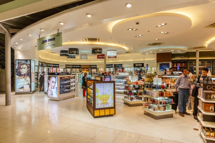 Duty Free Airport EDITORIAL ONLY Tooykrub Shutterstock.com