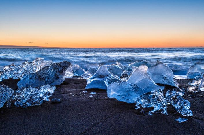 bunte Strände, Island