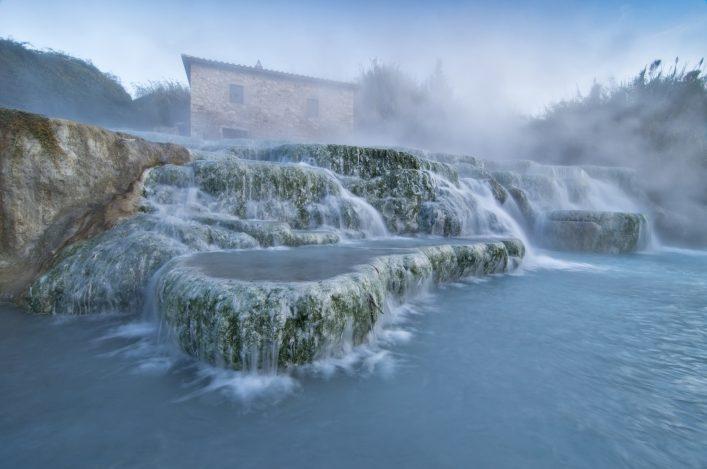Die Schwefeltherme von Saturnia in der Toskana