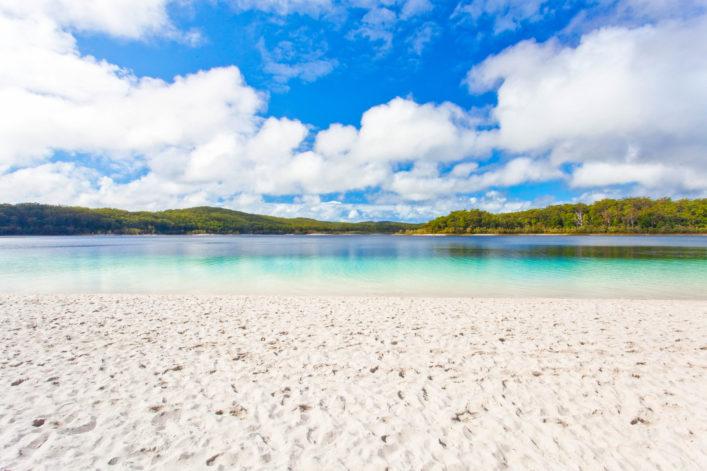 bunte Strände, Lake McKenzie Fraser Island, Queensland, Australia