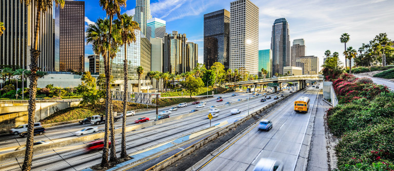 Los Angeles, California City Skyline
