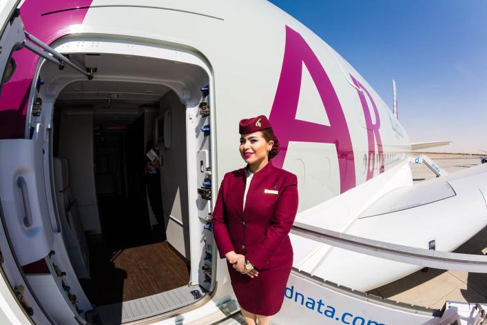 der längste Flug der Welt Qatar Airways
