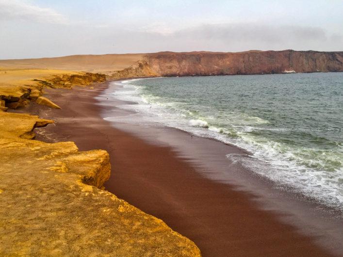 bunte Strände, Playa Roja, Peru