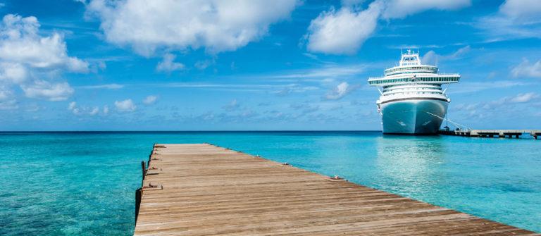 Ship Moored Caribbean Islands Cruise