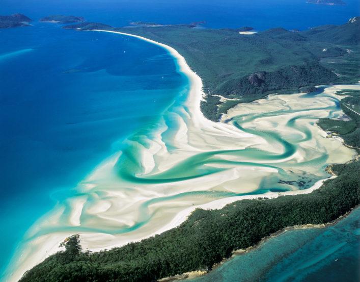 bunte Strände, Whitehaven Beach, Queensland, Australien
