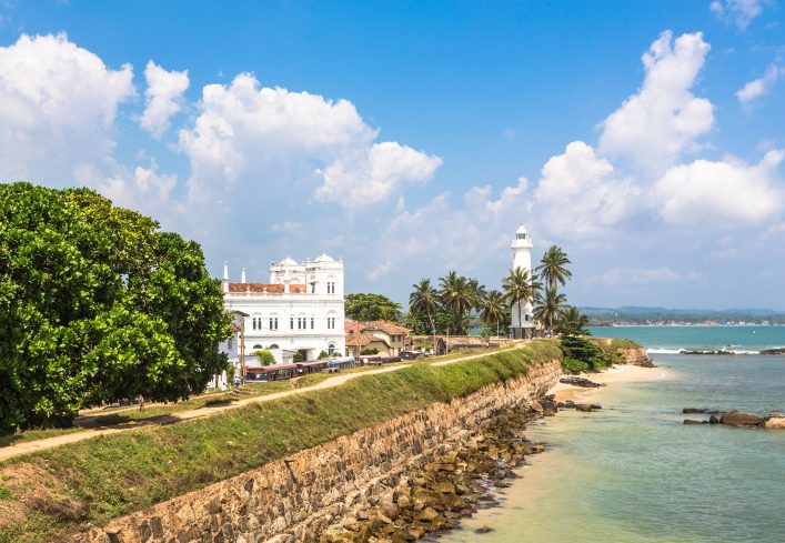 Galle fort in Sri Lanka is a prime Dutch colonial time city in Asia._shutterstock_234887059