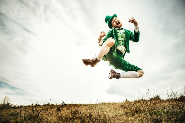 Leprechaun Man Dancing on St. Patricks Day iStock_000058553046_Large-2