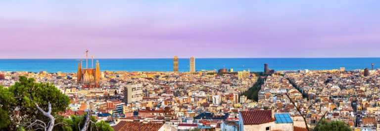 Panoramic view of Barcelona from Park Guell in a summer day in Spain shutterstock_261086792-2 – Copy