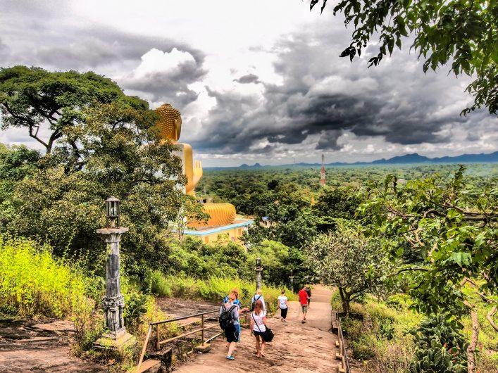 Tourists at Dambulla World Heritage Centre in Sri Lanka