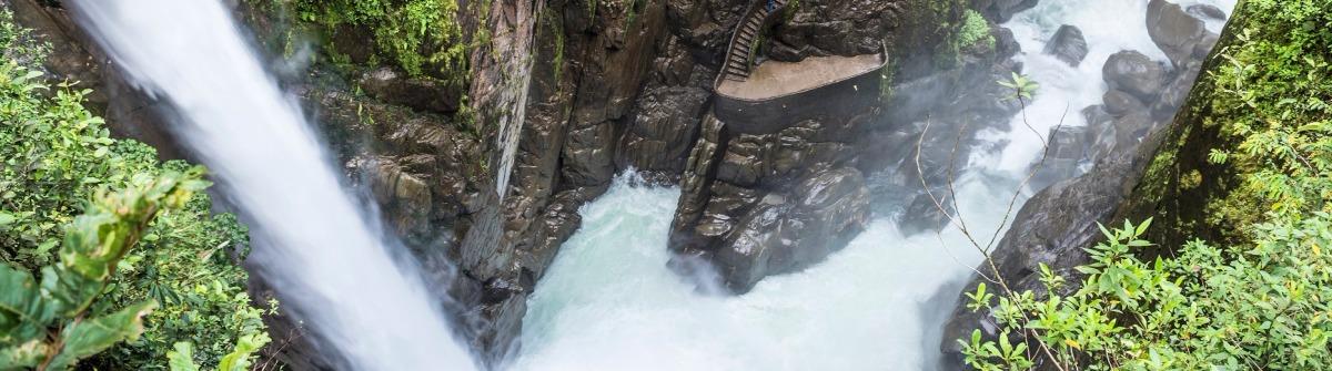 Pailon Del Diablo Wasserfall in Ecuador