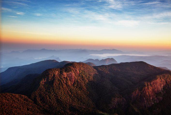 Sunrise over Adam's peak, Sri Lanka