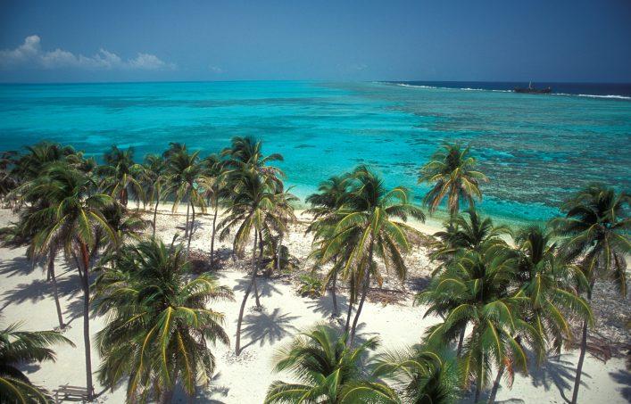 Ein Strand in Belize