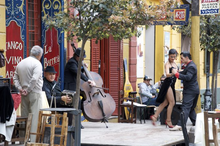 Tangotänzer in Buenos Aires