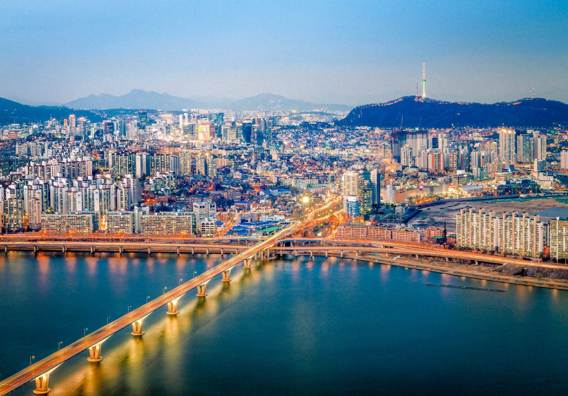 Die Skyline von Seoul in Südkorea
