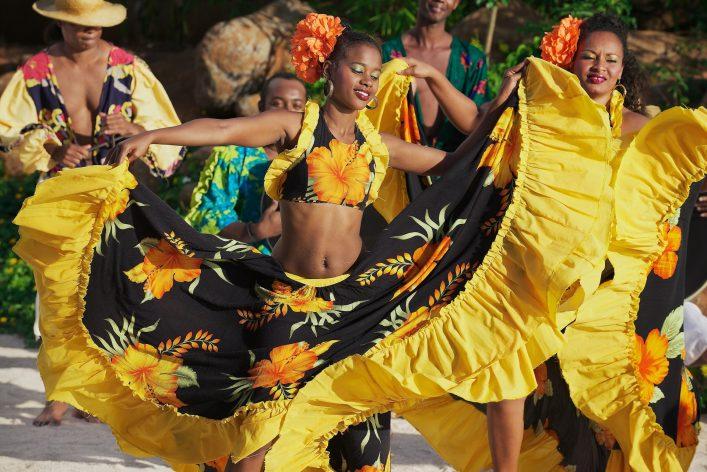 Tanzende Kreolen auf Mauritius