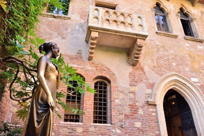 Der Balkon von Romeo und Julia in Verona
