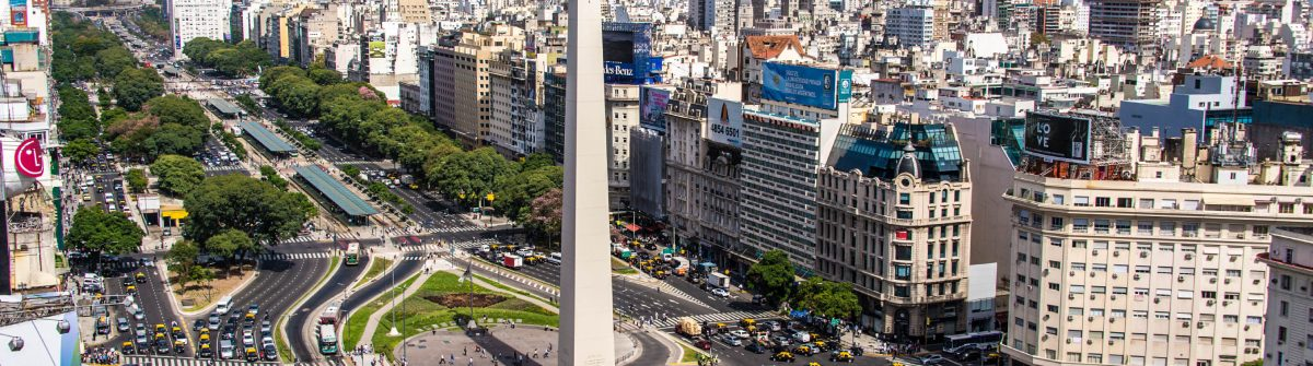 Birds eye of Avenida 9 de Julio in Buenos Aires Argentina iStock_000065150149_Large-2
