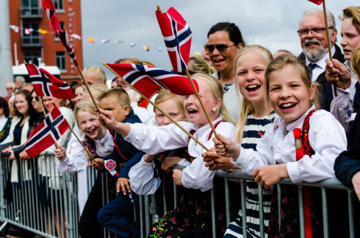 People in Bergen during Constitution Day 17th of May