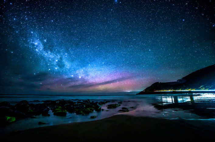 Milky Way Galaxy Over Great Ocean Road