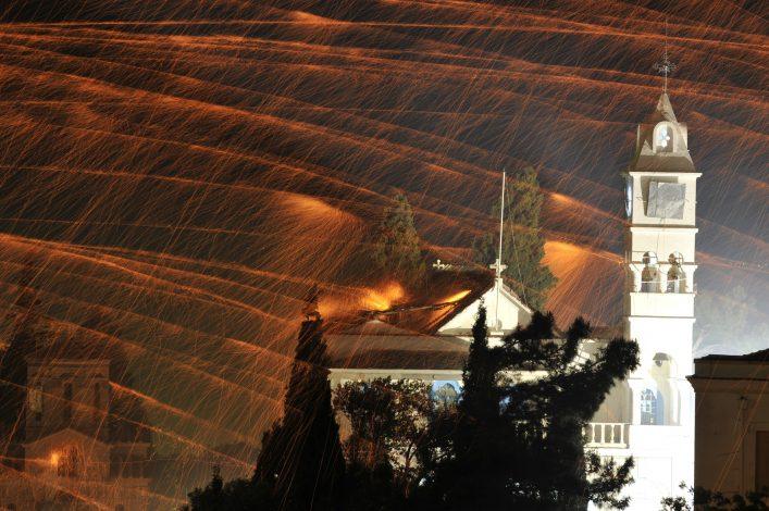 Feuerwerk Chios, Griechenland