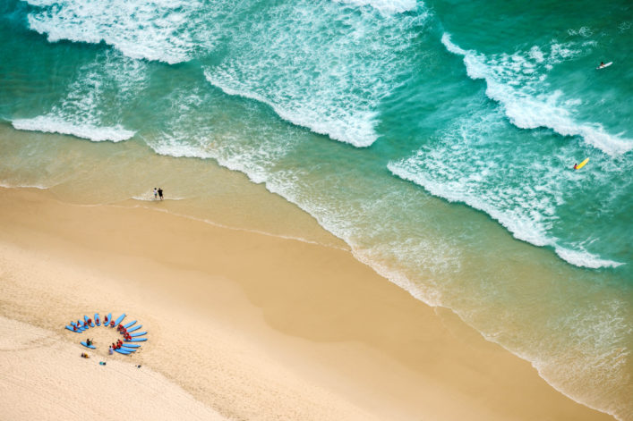 Surfen an der Gold Coast, mit dem Camper durch Australien