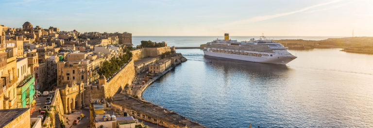 The ancient walls of Valletta and Malta harbor shutterstock_335746946-2