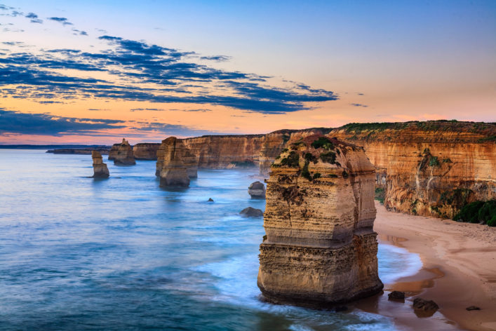 Twelve Apostles, Port Campbell National Park at sunset