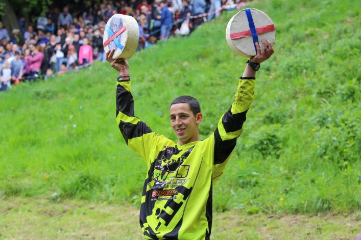 Cheese Rolling Champion Chris Anderson
