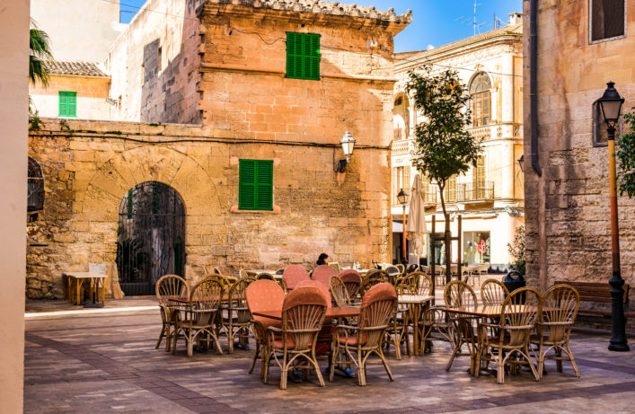 Idyllic view at the old town of Manacor, Spain Majorca shutterstock_576157474-2