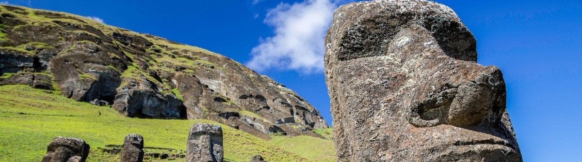 Die Moai Statuen der Osterinsel sind mystisch
