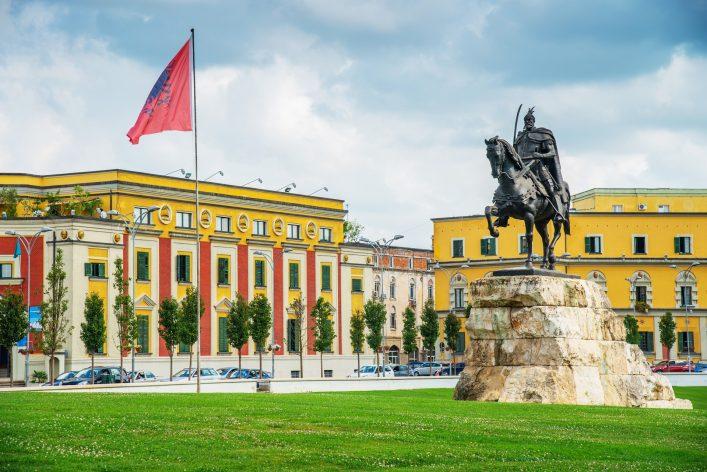 Tirana, die Hauptstadt Albaniens