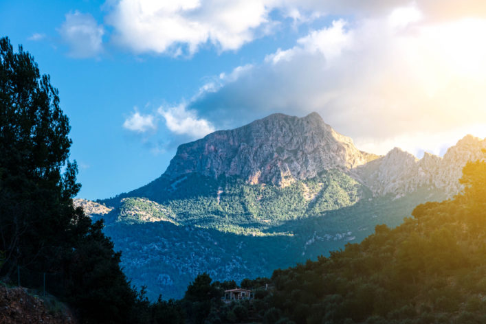Mountain Puig Major im Mallorca, Spain