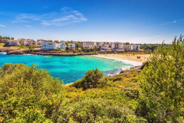 View at Cala Marcal, Porto Colom (Mallorca)