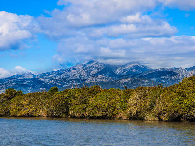 Spanish countryside and mountains at Parc Natural de s'Albufera de Mallorca shutterstock_142023619
