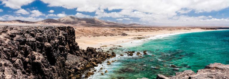 Volcanic seascape. Fuerteventura