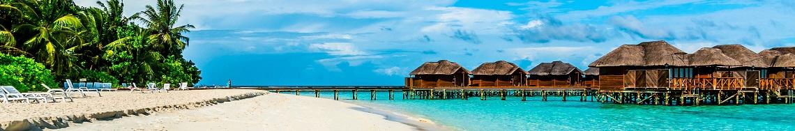Het strand op de Malediven